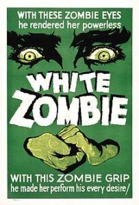White Zombie (1932) film poster. (Voodoo)