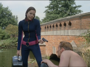 "Diana Rigg as Emma Peel, The Avengers, ""You Have Just Been Murdered"""