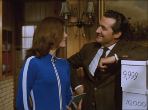 "Diana Rigg as Emma Peel and Patrick Macnee as John Steed, The Avengers, ""You Have Just Been Murdered"""