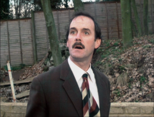 "John Cleese as Basil Fawlty, Fawlty Towers, ""The Anniversary"""