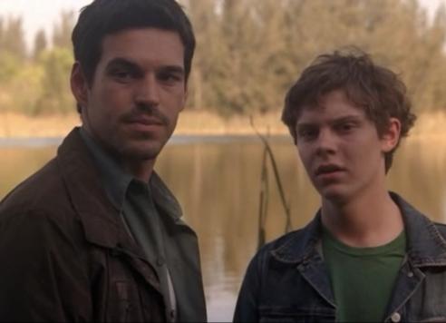 "Eddie Cibrian as Russell Varon and Evan Peters as Jesse Varon, Invasion, ""Pilot"""