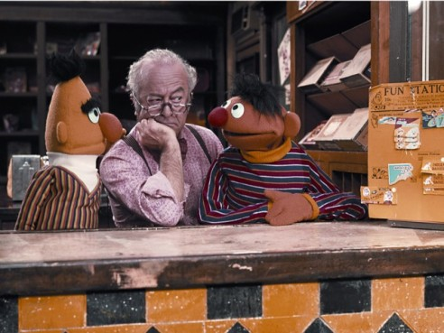 Mr. Hooper with Bert and Ernie