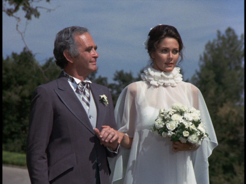 Diana in her wedding gown