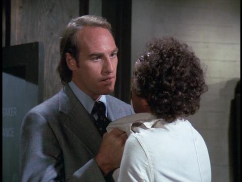 Sam intimidates Professor Brubaker
