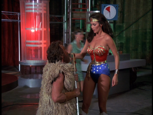 Wonder Woman confronts the costume contest winner