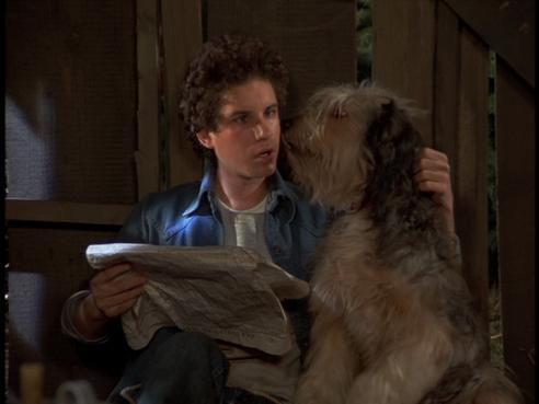 Barney and Jason the dog